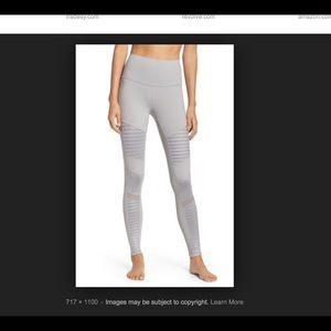 Alo Yoga Light Gray Moto Legging Sz XS